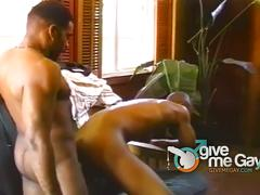 Horny black fuckers slamming ass