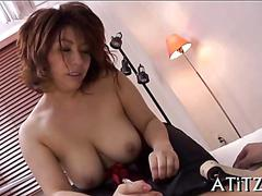 Busty asian bitch has a hardcore fucking