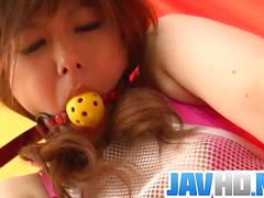 Miku airi got bound up and exploited with dildo