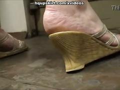 White thong milf upskirt