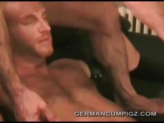 Fucked raw by a guy with a black leather cock ring
