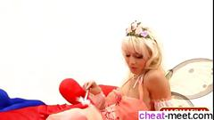 Slutty tinkerbell getting fucked red and blue left and right
