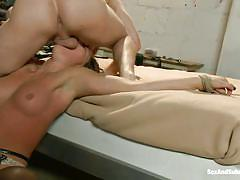 White man throat fucks sweet rilynn rae with no mercy