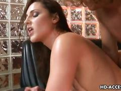 Sexy lauren phoenix double blowjob & hardcore sex
