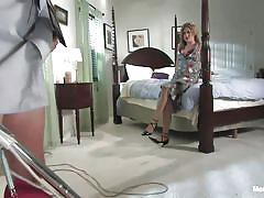femdom, bdsm, hanging, mistress, slave, humiliation, bedroom, tied up, cock torture, shibari, gwen diamond, billy, men in pain, kinky dollars