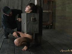 milf, bdsm, asian, vibrator, moaning, mouth fuck, black hair, bondage device, bondage box, nose torture, sexually broken, marica hase, matt williams, marica hase, matt williams, sexually broken, kinkster cash
