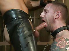 tattoo, bdsm, whipping, deepthroat, master, tied up, leather pants, cock sucking, gay, leather collar, bound gods, kink men, master avery, troy daniels, master avery, troy daniels, bound gods, kinky dollars