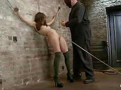 small tits, milf, bdsm, high heels, long hair, brunette, tit torture, tied up, ball gag, clothespins, hogtied, kink, casey calvert, sgt. major, casey calvert, sgt. major, hogtied, kinky dollars
