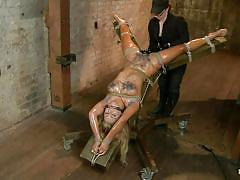 bdsm, mistress, oiled, vibrator, big dildo, tied up, blonde milf, ropes, hot wax, mouth gagged, pussy fisting, hogtied, kink, cameron dee, cameron dee, hogtied, kinky dollars