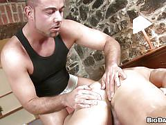 Gay massage and blowjob