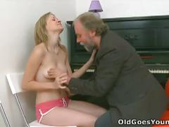 Lusty maya gets fuck with boyfriend and old man