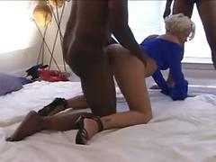 White wife creampied by 2 black guys