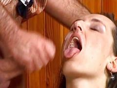 Sexy german brunette gets fucked hard by a huge cock
