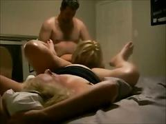 Homemade threesome with mother and not her daughter