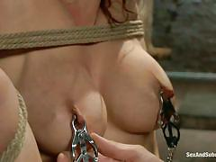Red haired milf gets her pussy fucked