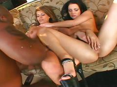 anal, babe, big dick, blonde, brunette, hardcore, pornstar, threesome, 3some, anal sex, assfucking, beauty, big black dick, black hair, cowgirl, doggy style, ffm, platinum blonde, reverse cowgirl