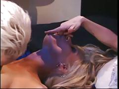 3 horny hotties in lesbian action on the bed