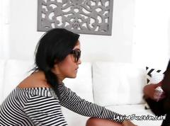 Booty latina lesbians licked its other pussy in office