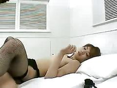 Hot japan babe in stockings - unsecored-