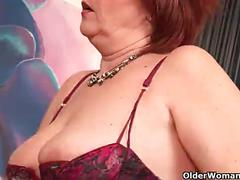 Full figured grandma valencia with her big tits needs an orgasm