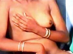 Indian whore fucks two guys
