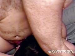 Anal slamming horny fat daddies