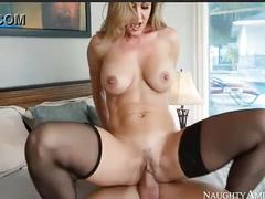 Sexy blonde milf brandi love is banged hard from behind by johnny sins