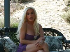 Diamond foxxx tastes stepson's sausage at bbq