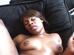 Ebony sista megan pryce takes big black cock