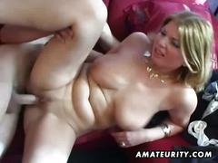 Busty amateur milf's anal hardcore