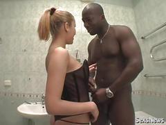 homemade, bathroom, interracial, ama, blackcock, white, slut, teen, sex