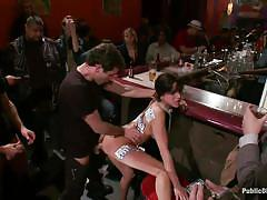 milf, fisting, anal, big tits, punish, public, squirting, humiliation, tattooed, from behind, black hair, bar, labels on tits, gia dimarco, james deen, mr. pete, princess donna dolore, public disgrace, kinky dollars