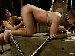 milf, handjob, anal, femdom, bdsm, strapon, spanking, big tits, black hair, ropes, from behind, cbt, beretta james, dominic pacifico, divine bitches, kinky dollars