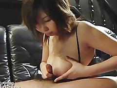 Japanese geisha girl titty fuck