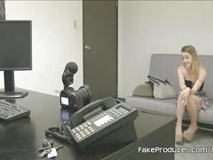 Fakeproducer casting skinny blonde alexia gold during blowjob audition