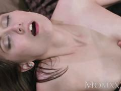 Mom sexy milf enjoys her lovers big cock deep in her pussy