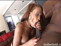 hardcore, big tits, cumshot, facial, black, ebony, couch, booty, couple, big cock, fucking, bbc