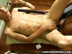 Pervert cop anal fucked a skinny twink
