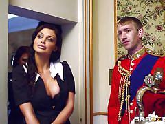 redhead, blowjob, big boobs, english, public place, porn stars like it big, brazzers network, danny d, aletta ocean, madison ivy