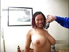Latin big tits anal