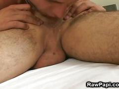 Cock and ass eating latino studs fucking bareback