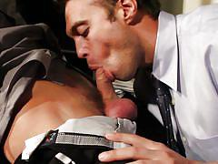 Hot gay sex in the office