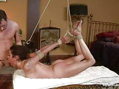 milf, fisting, tattoo, bdsm, deepthroat, punishment, brunette, tied up, submission, clamp, hardcore blowjob, james deen, princess donna dolore, sex and submission, kinky dollars