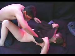 Naughty amateur couple demonstrating fuck