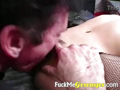 Old guy fucking sexy girl