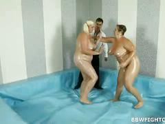 bbw, chubby, czech, fat, fight, hardcore, wrestling