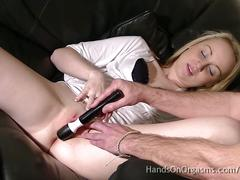 Made to orgasm -the cameraman stimulates their clits