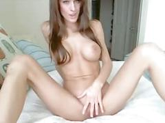 Cute babe show her wet pussy