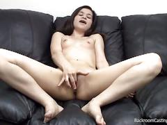 Delaney ass fucked and creampied on tape