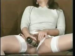Masturbation break with a bottle